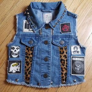 'CUSTOM' Handwork Kiddos Punk Vest